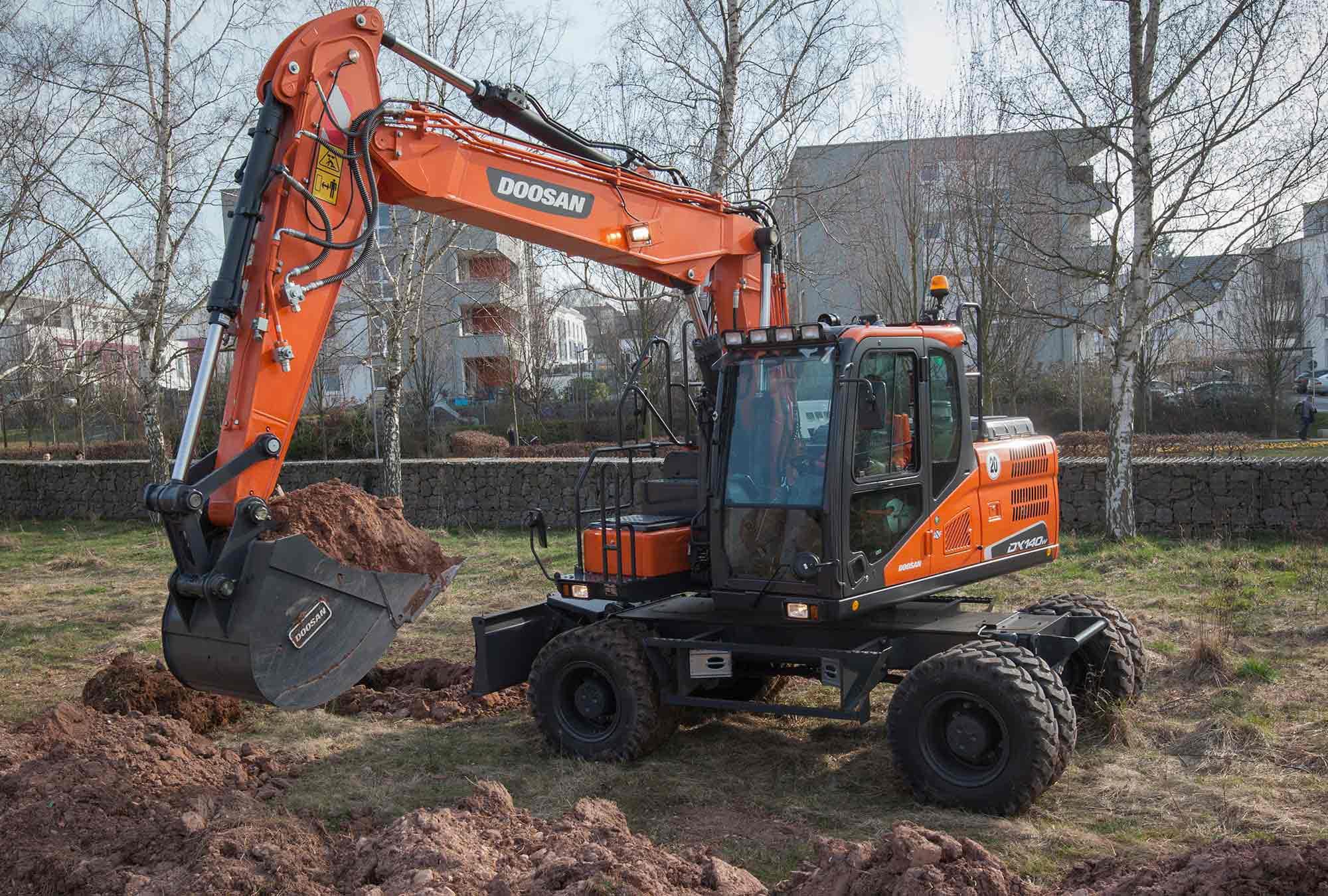 Wheeled Excavator Contract Hire